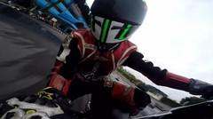 helmet cam GOPRO latihan Road Race menggunakan honda blade 125