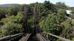 Phoenix Roller Coaster Front Seat Knoebels Amusement Park - video