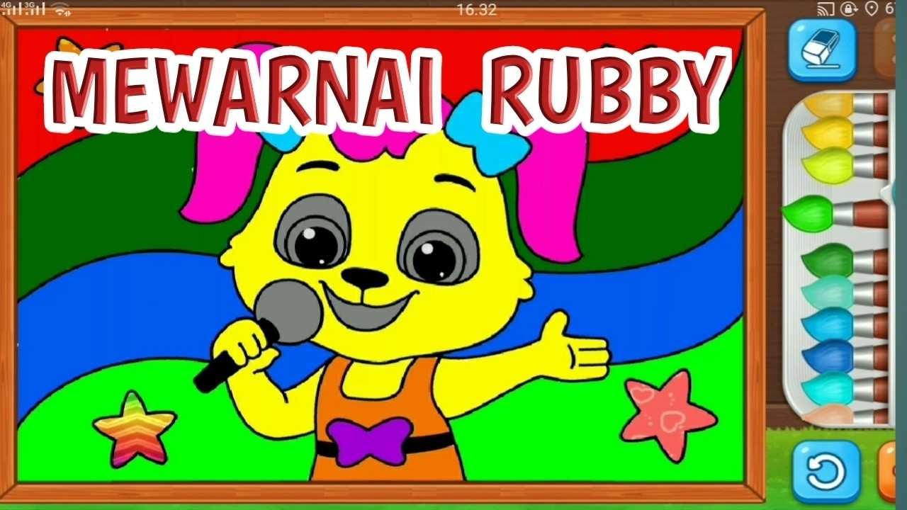 Belajar Menggambar Dan Mewarnai Rubby Si Kelinci Belajar Untuk Anak PAUD Dan TK 8
