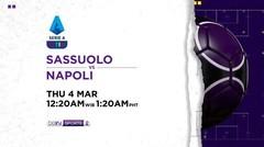 Sassuolo vs Napoli - Kamis, 04 Maret 2021 | Serie A