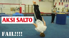 Aksi Belajar Salto tapi Berakhir Gagal