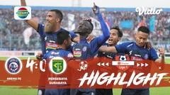 Full Highlight - Arema 4 vs 0 Persebaya Surabaya | Shopee Liga 1 2019/2020