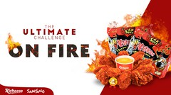 Mie Samyang Nuclear & Richeese Fire wings level 5 Challenge / Go Dok Indonesia