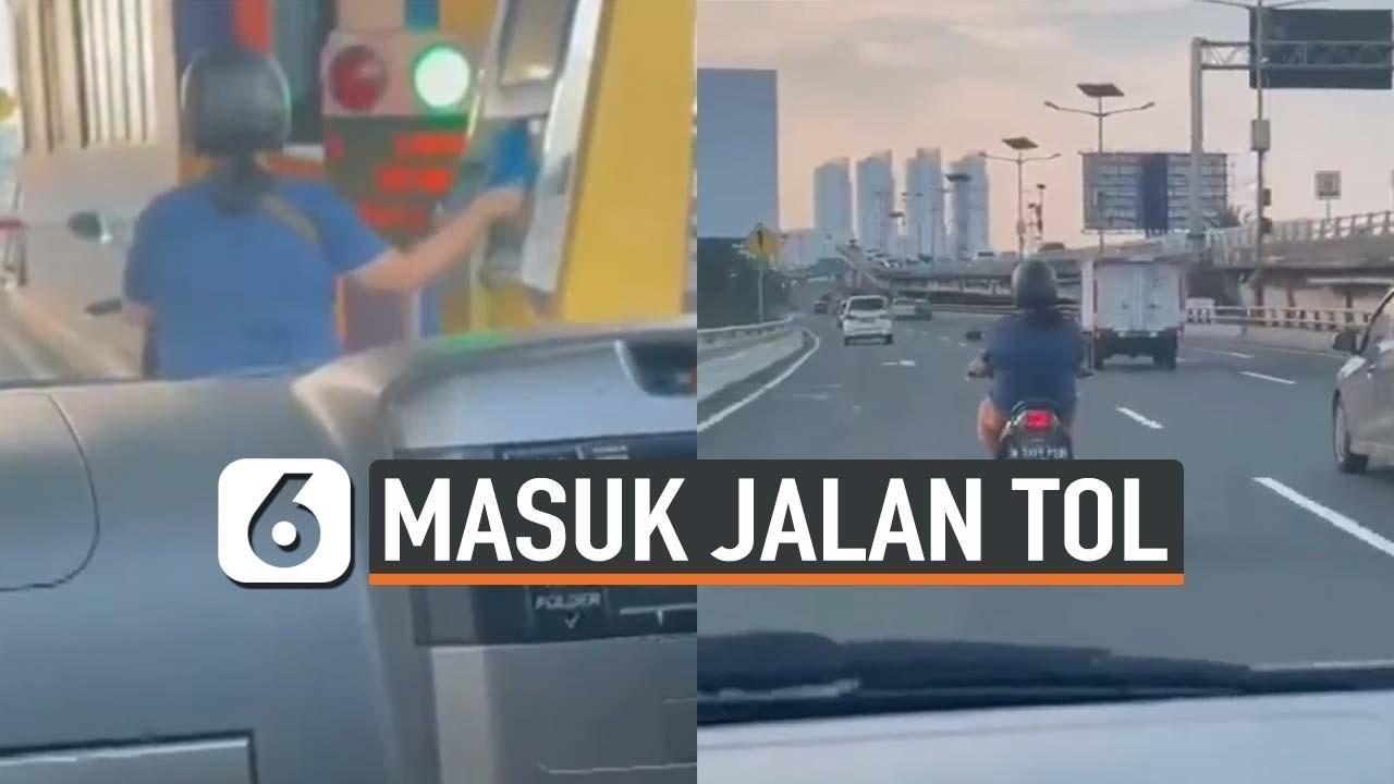Streaming Viral Emak Emak Naik Motor Masuk Jalan Tol Vidio