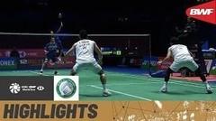 Match Highlight | Hiroyuki Endo/ Yuta Watanabe (Jepang) 2 vs 1 Takeshi Kamura/Keigo Sonoda (Jepang) | Yonex All England Open Badminton Championship 2021