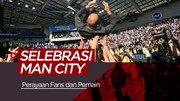 Selebrasi Manchester City usai Juara Premier League