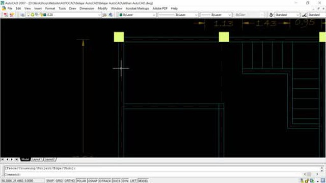 Desain Rumah 2 Lantai Dwg  menggambar rumah 2 lantai dengan autocad ep05 membuat denah lantai dua