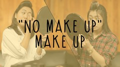 """No Make Up"" Make Up - Sister Challenge"