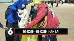 Peringati World Clean Day, Ratusan Relawan Bersih-bersih Sampah di Pantai Desa Padeleggan | Liputan 6