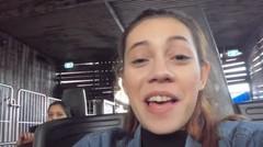 SHAE Mencoba Tetap Bernyanyi Ketika Menaiki Buzzsaw ride di Dreamworld