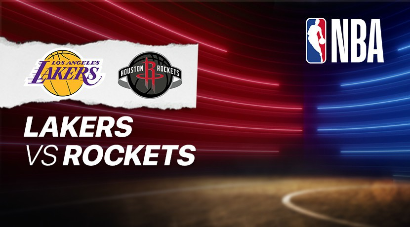 Lakers vs Rockets - NBA cover