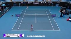 Match Highlights | Kala Kanepi 2 vs 0 Ekaterina Alexandrova | WTA Melbourne Open 2021