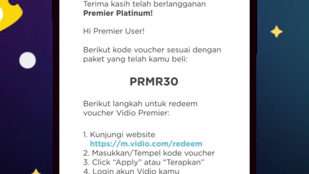 Streaming How To Redeem Premier Platinum Vidio Com