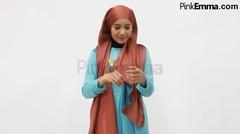 Tutorial Hijab Pashmina Dua Warna