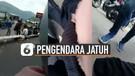 Viral Pengendara Motor Jatuh Setelah Teriak Tarik Sis