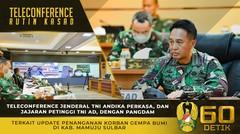 Teleconference Kasad dengan Pangdam XIV/Hasanuddin Terkait Update Penanganan Korban Gempa Bumi