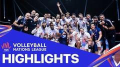 Match Highlight   3rd Position   VNL MEN'S - France 3 vs 0 Slovenia   Volleyball Nations League 2021