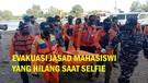 Detik-Detik Evakuasi Jasad Mahasiswi yang Hilang Saat Swafoto di Pantai Logending Kebumen