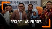 Hasil Rekapitulasi Nasional, Jokowi Unggul dari Prabowo