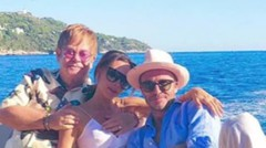 The Beckhams holidayed in france with elton john
