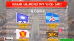 Ini dia 4 partai politik ternyata Gatot(gagal total) yang mengusulkan Hak angket Ahok gate!