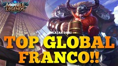 SOLO RANKED FRANCO GA MATI MATI MALAH MVP BELAJAR DARI TOP GLOBAL