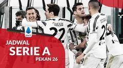 Jadwal Liga Italia Pekan 26, Juventus Hadapi Lazio di Allianz Stadium