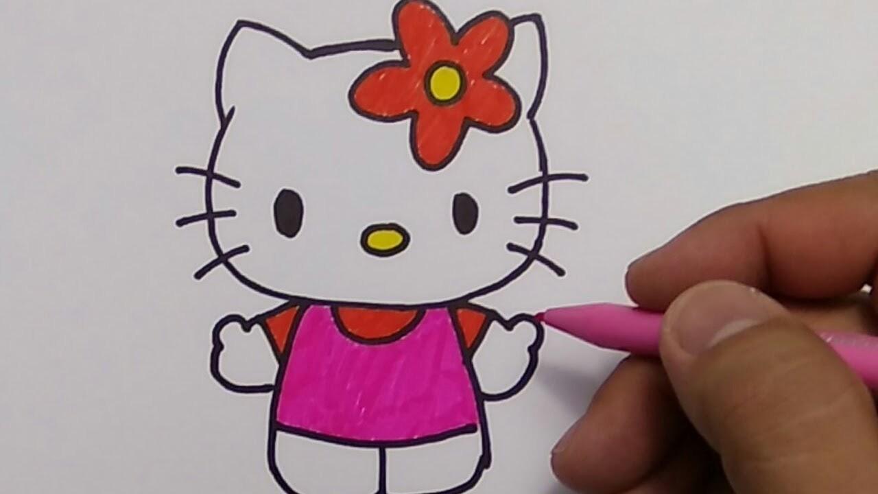 Belajar Menggambar Hello Kitty