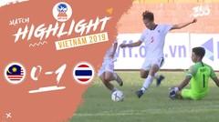 Full Highlight - Malaysia 0 VS 1 Thailand   Piala AFF U-18 2019