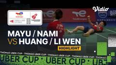 Highlight Match 4   Jepang vs China   Misaki Matsutomo/Nami Matsuyama vs Huang Dong Ping/Li Wen Mei   Thomas & Uber Cup 2020