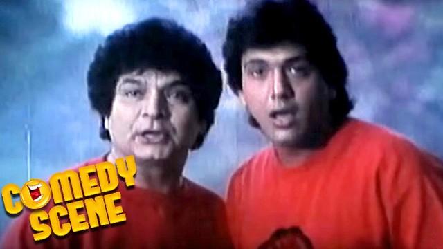 Govinda Doing Dilip Kumar Mimicry  Comedy Scene  Paap Ka -1247