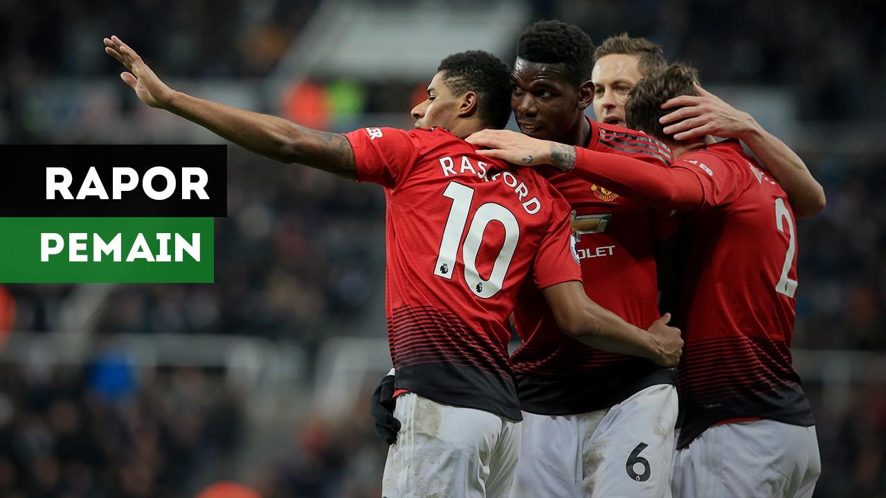 Rapor Pemain Manchester United Usai Taklukkan Newcastle
