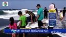 Bangkai Hius Paus Terdampar di Pantai Kulonprogo Jadi Tontonan Warga