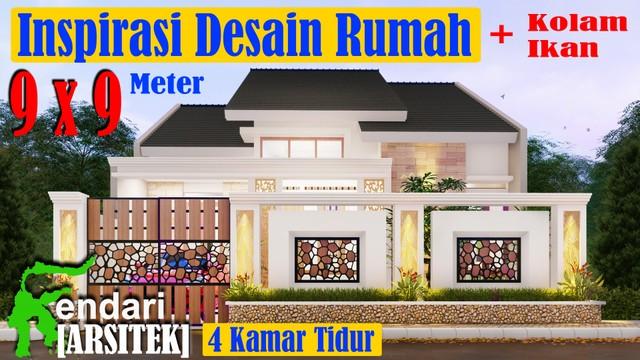 Gambar Desain Rumah Minimalis 6 X 9  desain rumah minimalis modern 9x9 meter 4 kamar tidur 1 lantai di lahan 9x14 meter