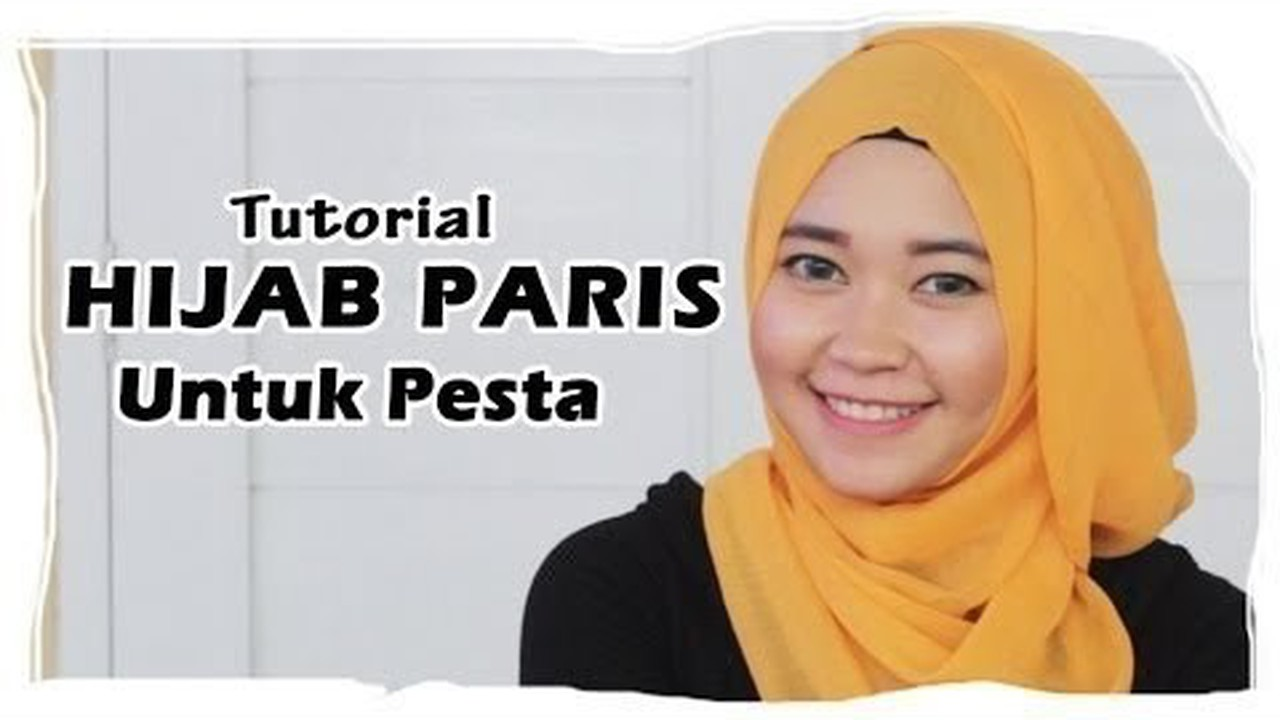 Streaming Hijab Tutorial Cara Memakai Jilbab Paris Segi Empat Square Scarf Untuk Pesta Vidio