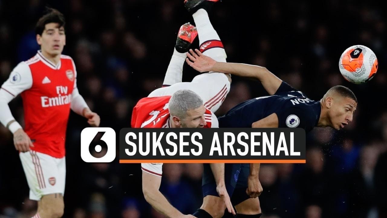 Arsenal Sukses Tumbangkan Everton 3 2