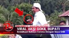 GOKIL! Bupati Boltim Sosialisasi Bahaya Corona Dengan Cara Unik, Simak Videonya