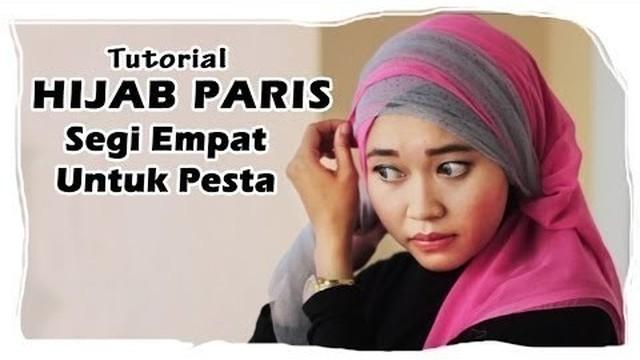 Streaming Tutorial Hijab Paris Segi Empat Ke Pesta Kombinasi Tile Vidio