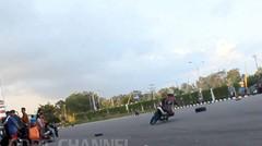 latihan road race jogja aksi sliding take over dan wheelie