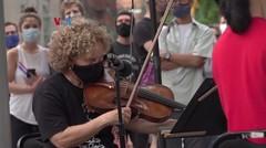 Konser Jalanan Obati Kerinduan akan Pertunjukan Musik Klasik
