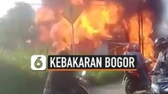 Kebakaran Pompa Bensin Mini Menyambar Rumah dan Motor