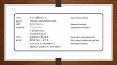 Belajar Bahasa Jepang Pelajaran 14 (Saya Kembali !!!)