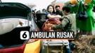 Viral, Ambulan Rusak di Tengah Jalan, Pasien Bersalin Dievakuasi Polisi