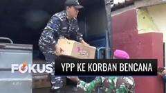 YPP bersama Dispotmar TNI AL Salurkan Bantuan untuk Masyarakat Terdampak Longsor di Sumedang   Fokus