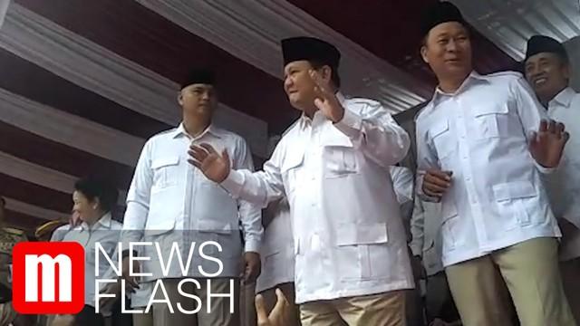 Prabowo Pimpin Upacara Peringatan Kemerdekaan ke-74 RI di DPP Partai Gerindra