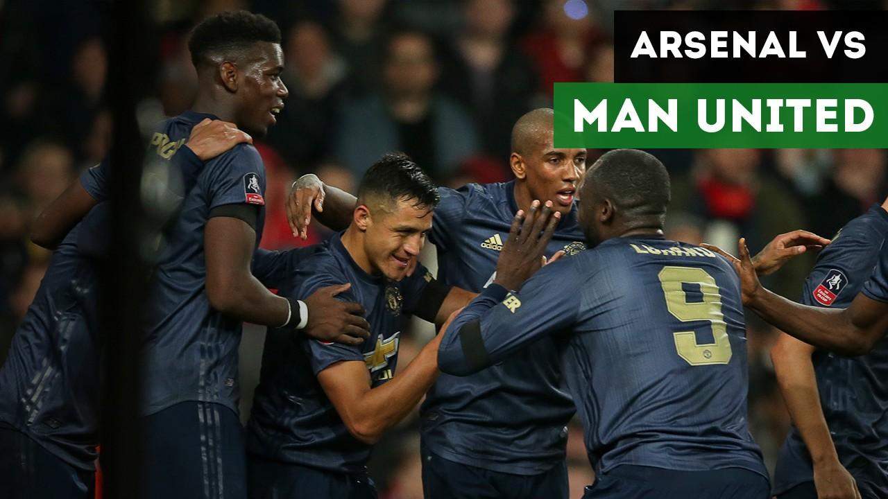 Highlights Piala FA Arsenal Vs Manchester United 1 3