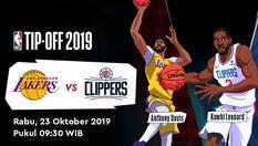 23 OKT 2019 | 09:30 WIB | NBA Tip-Off 2019 - L.A Lakers vs Clippers