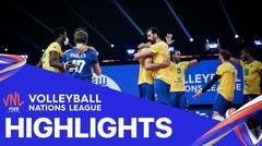 Match Highlight | Semi Final | VNL MEN'S - Brazil 3 vs 0 France | Volleyball Nations League 2021