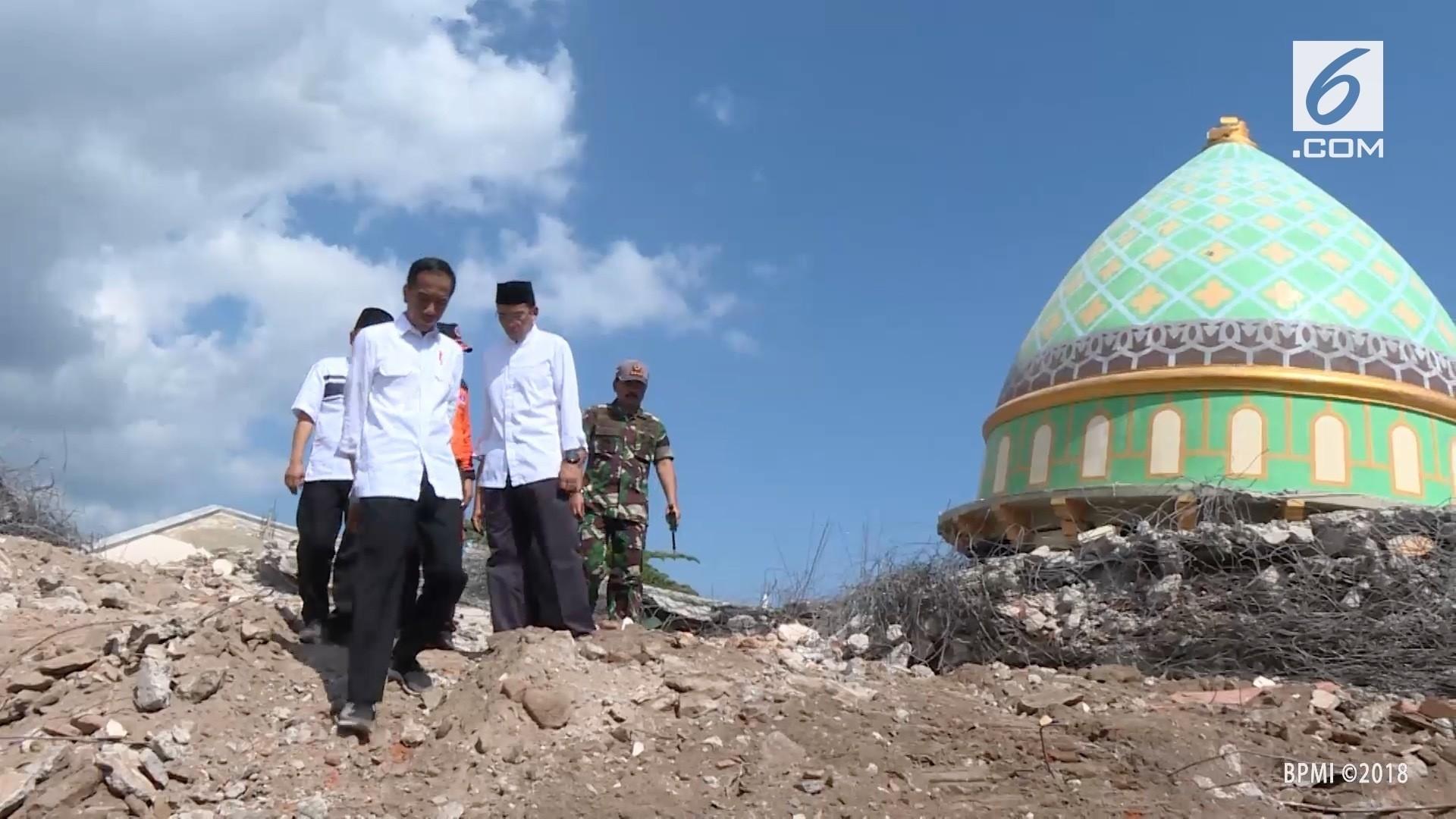 Tinjau Masjid di Lombok, Jokowi Jalan Kaki 100 Meter - Vidio com