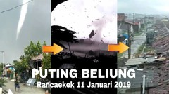 Angin Puting Beliung Terjang Rancaekek Bandung Jawa Barat